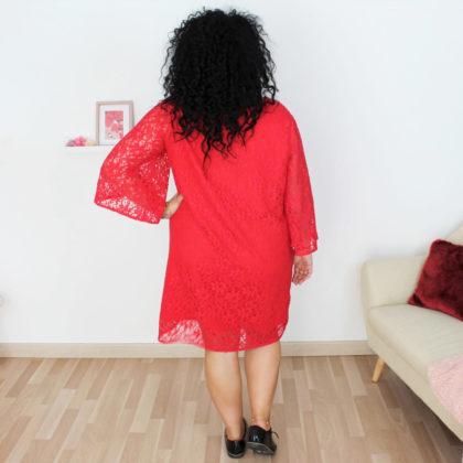 patron robe Graziella rouge dentelle