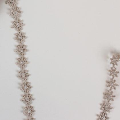 Galon guipure fleuri - beige