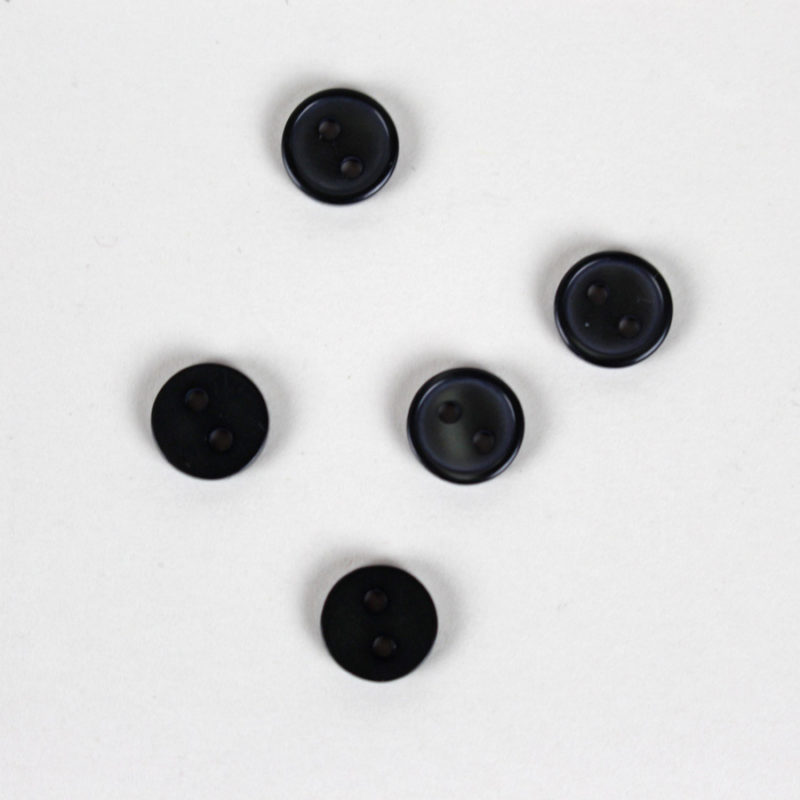 Boutons noirs 10mm