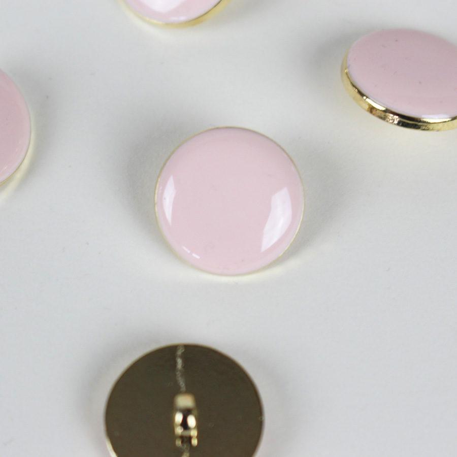 Bouton Elegant - rose et doré