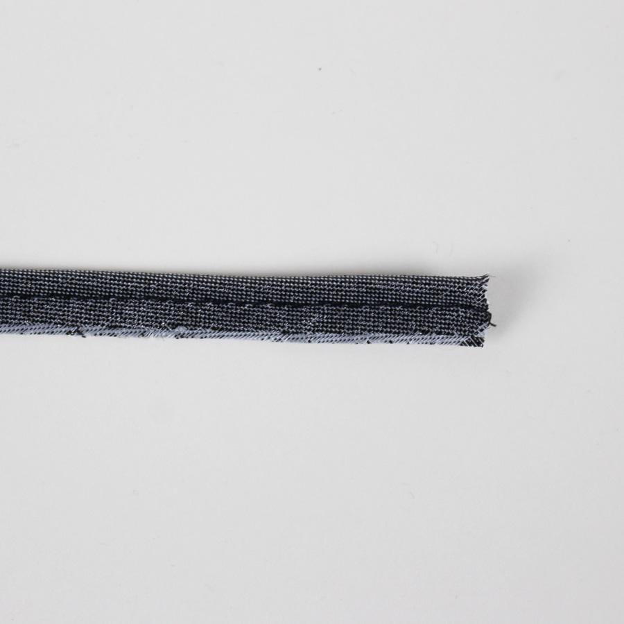 Passepoil fin lurex gris