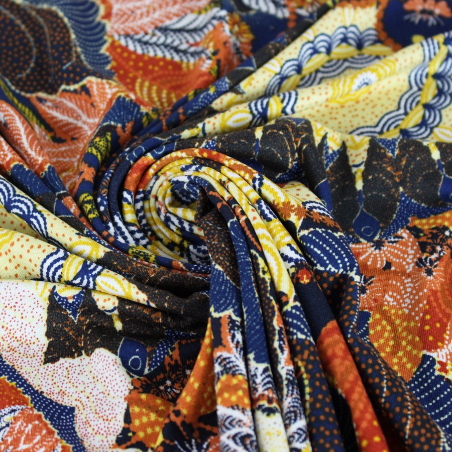 Tissu Jersey viscose Print color