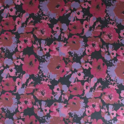 Tissu Satin à fleurs