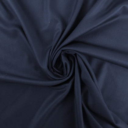 Tissu gabardine soyeuse bleu marine