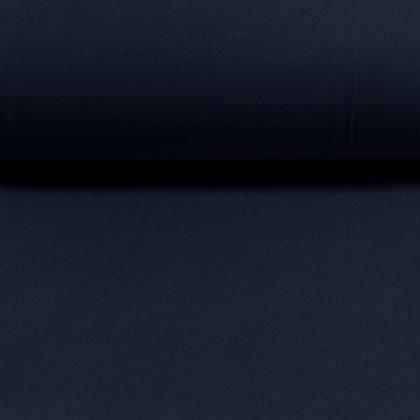 Tissu Faux lainage - bleu marine