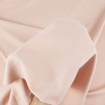Tissu Gabardine stretch rose clair