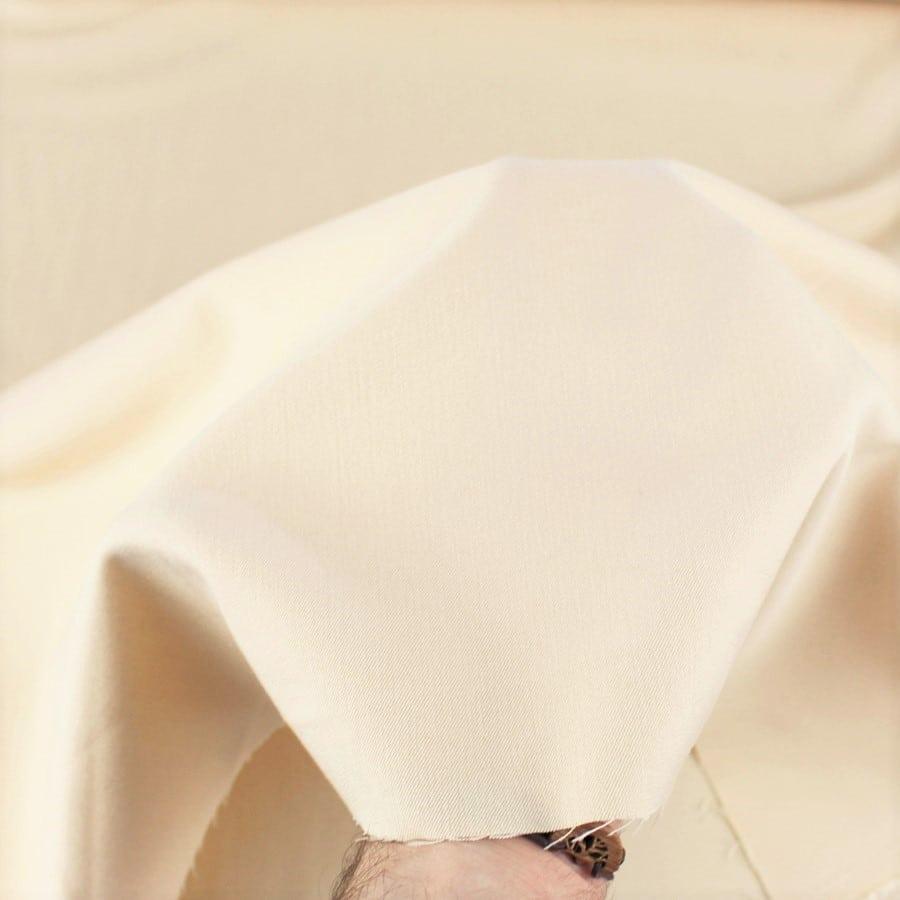 Tissu Gabardine stretch vanille