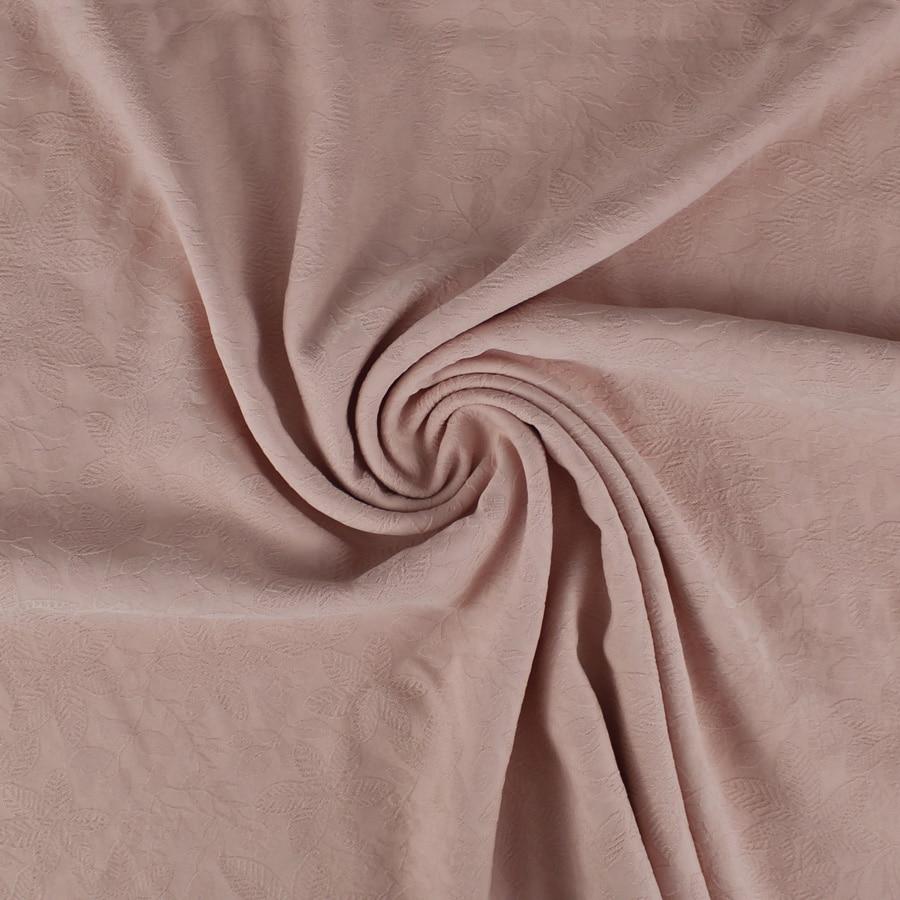 Tissu Jacquard Floreal - rose