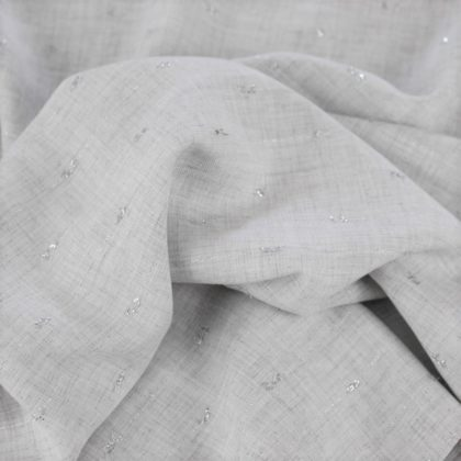 Viscose lurex - gris clair