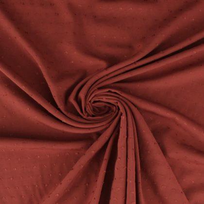 Tissu Viscose plumetis - terra