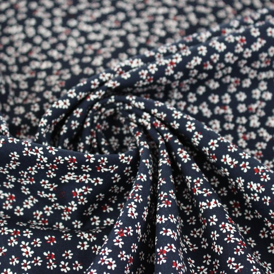 Tissu Popeline coton petites fleurs
