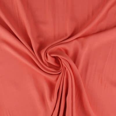 Tissu Viscose unie corail