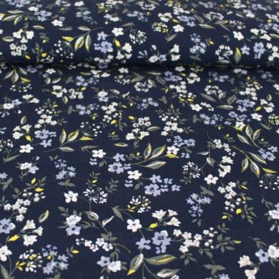 Tissu Viscose Fleurs de Printemps