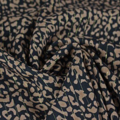 Tissu Viscose lurex léopard