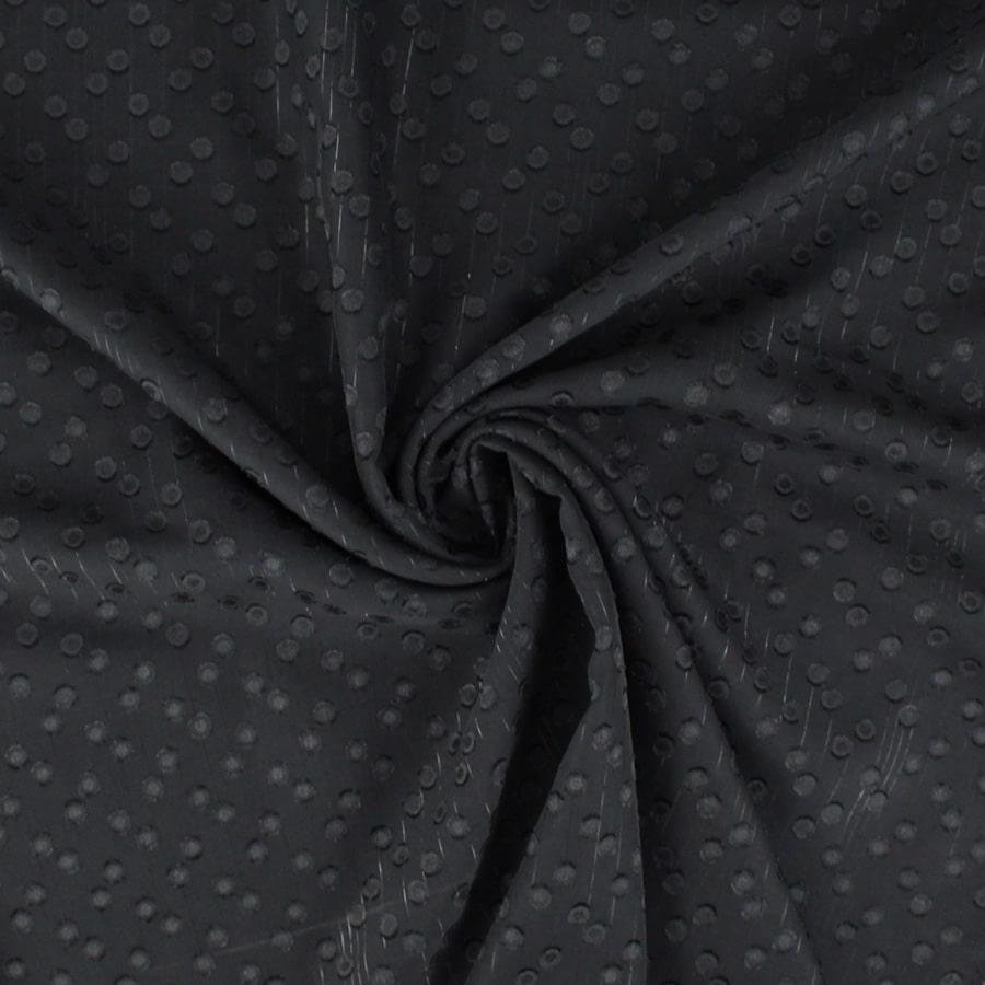 Voile lurex à pois noir