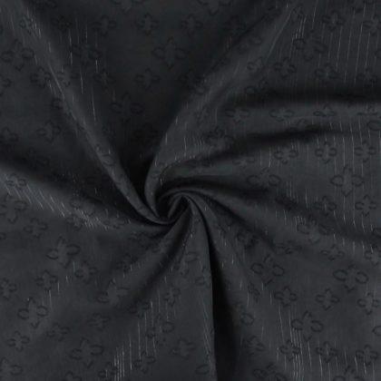 Tissu Voile lurex à trèfles - noir