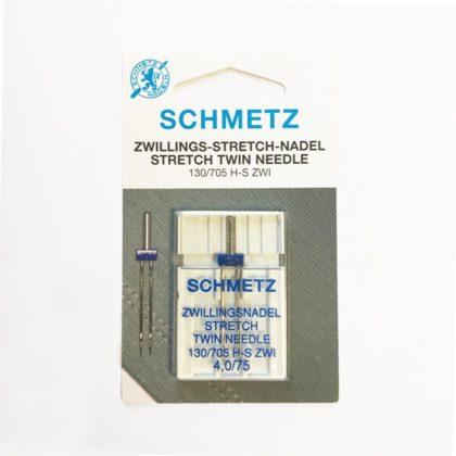 Aiguilles doubles machine 4.0 T.75 - Schmetz