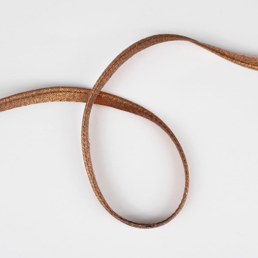 Passepoil fin lurex cuivre