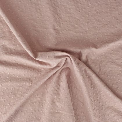 Broderie anglaise fleurie - vieux rose
