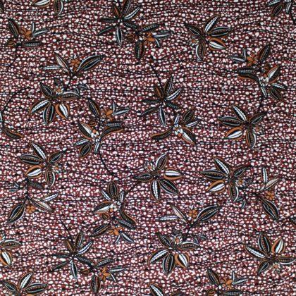 Tissu Jersey viscose Fleurs Cacao