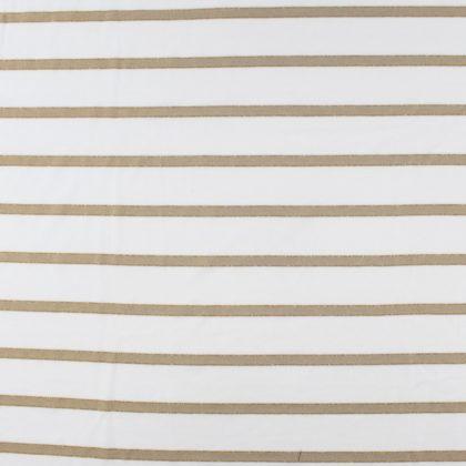 Tissu Jersey à rayures lurex - beige