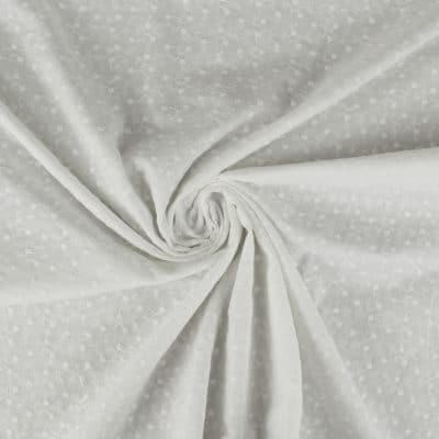 Broderie anglaise fleurie - blanc cassé