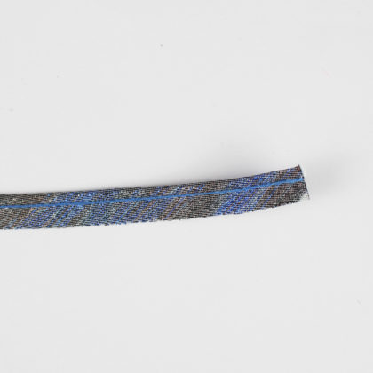 Passepoil fin lurex gris reflet bleu