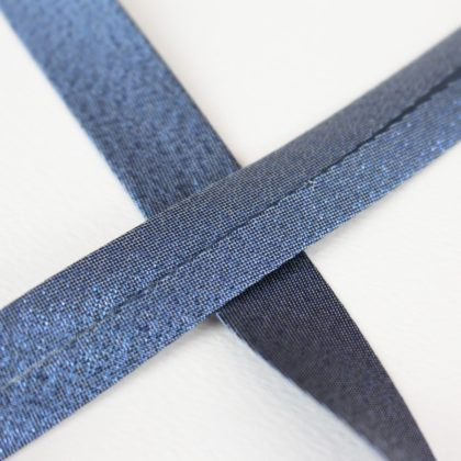 Biais lurex bleu