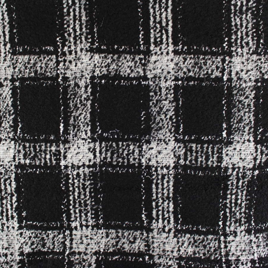 Lainage Carreaux noir et gris