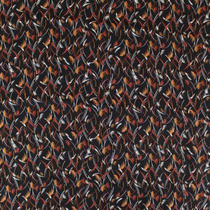 Tissu Viscose twill Automne - noir