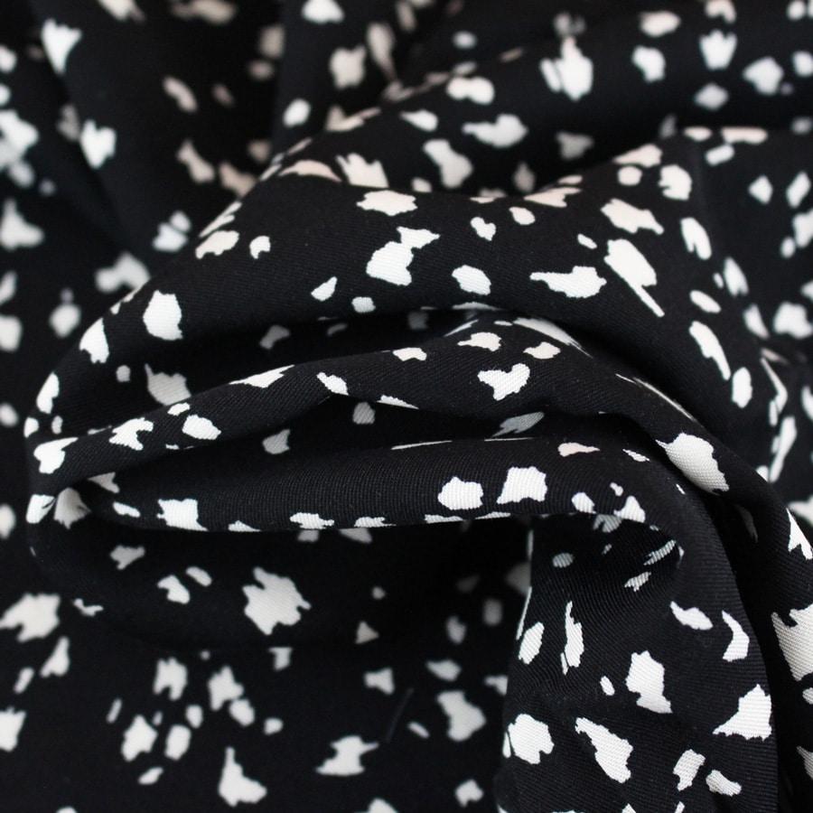 Tissu Viscose twill Brush - noir