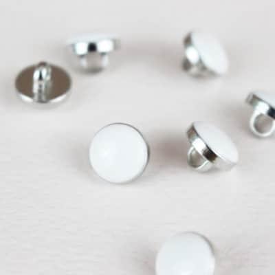 Bouton Elegant - blanc et argent