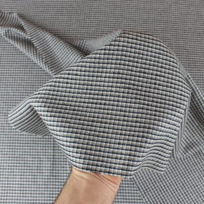 Gabardine à carreaux lurex