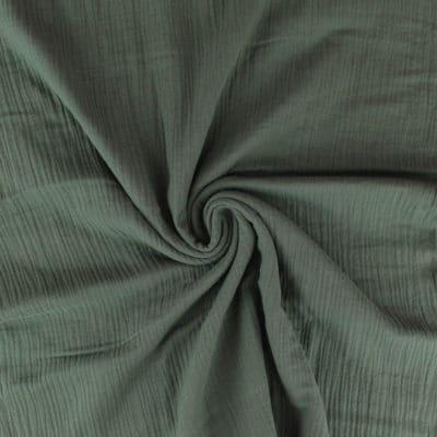 Tissu Double gaze - kaki