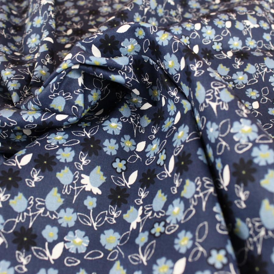Popeline Blue Vegetal