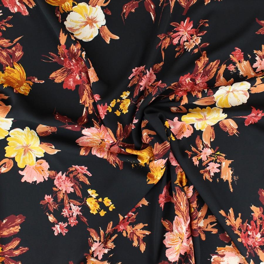 Crêpe georgette Fleurs d'or