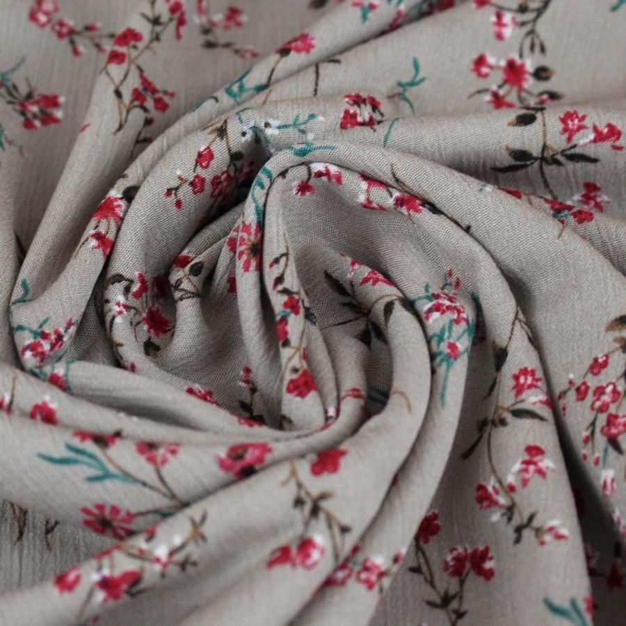 Crêpon Bouquet - gris clair