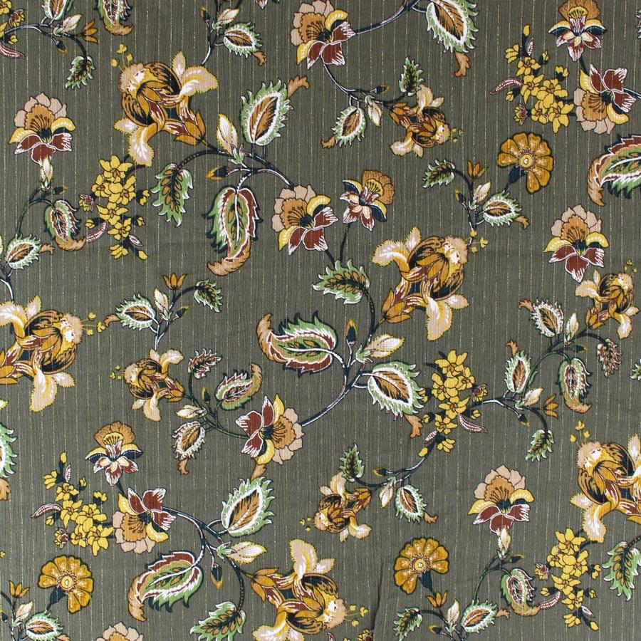 Viscose lurex Bloom - kaki