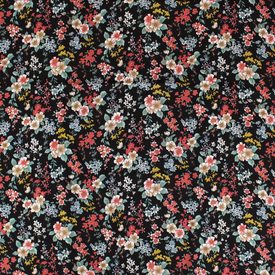 Crêpon Fleurs noires