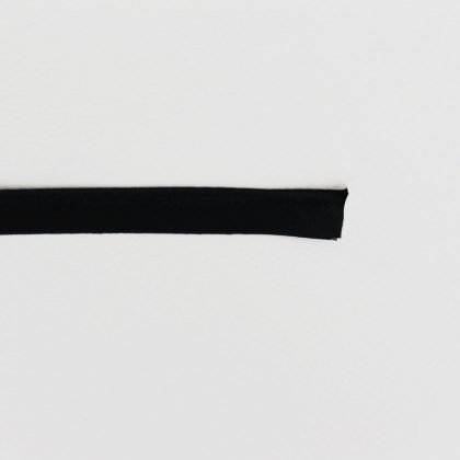 Passepoil satiné - noir
