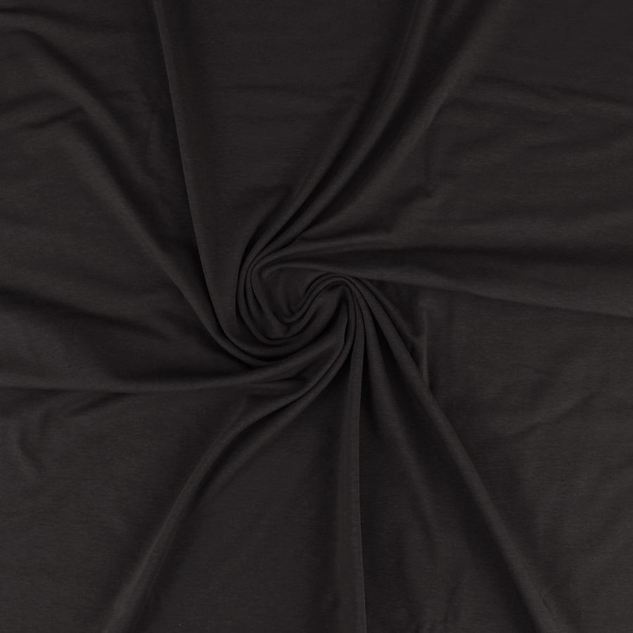Jersey de coton bio - noir
