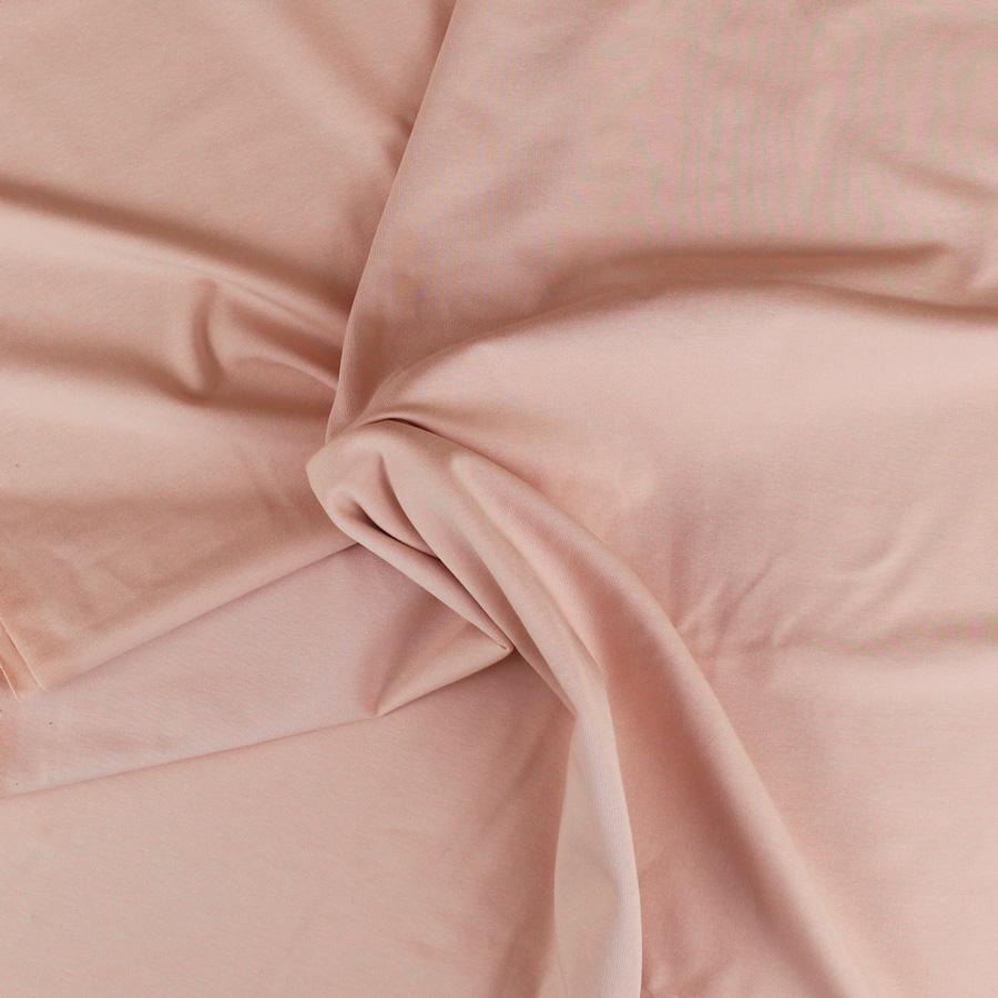 Jersey de coton bio - rose clair