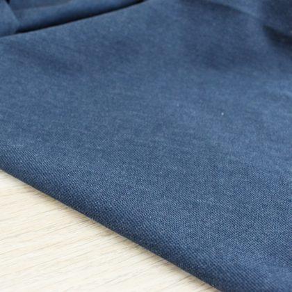 Maille polo - bleu jean