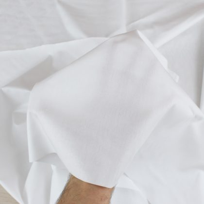 Popeline bio - blanc