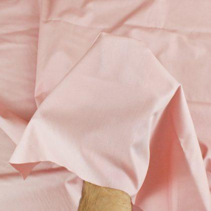 Popeline bio - rose clair