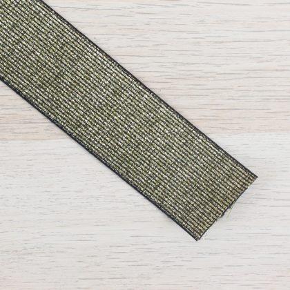 Elastique maille lurex 40 mm - doré