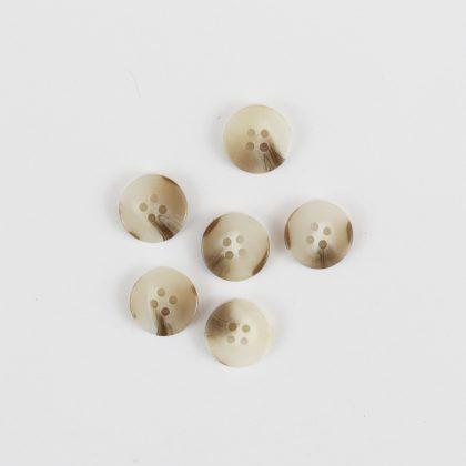 Boutons Sylvestre 18mm - blanc