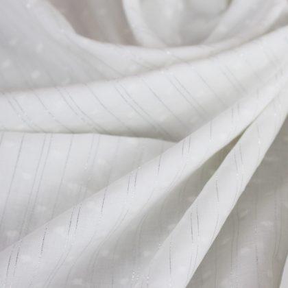 Voile plumetis lurex - blanc cassé