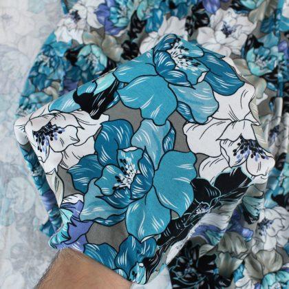 Jersey viscose Maxi Flowers - mer