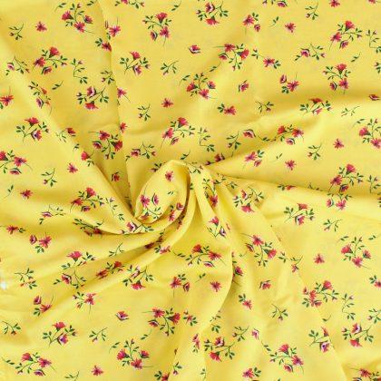 Viscose Nuée de fleurs - jaune